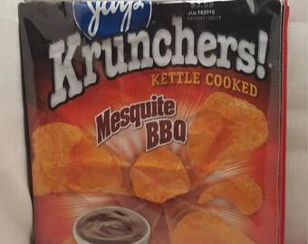 Krunchers BBQ upcycled zipper purse