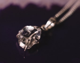 Herkimer Diamond Pendant Necklace, Herkimer Diamond Necklace, Herkimer Necklace, Herkimer Diamond, Herkimer, Crystal Necklace, Diamond
