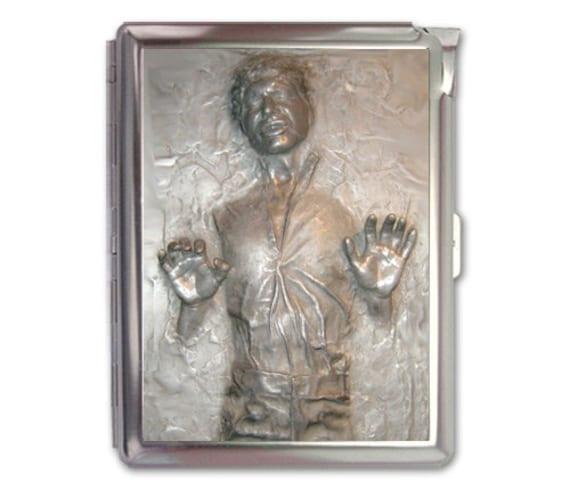 Items similar to han solo carbonite cigarette case lighter wallet items similar to han solo carbonite cigarette case lighter wallet business card holder on etsy colourmoves