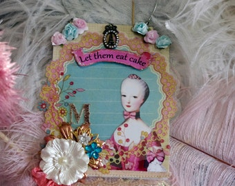Marie Antoinette Wall Hanging Altered Art Collage
