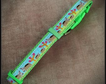 Medium Happy Hippos Dog Collar