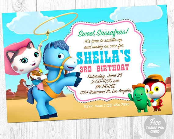 Sheriff Callie Invitation Sheriff Callie Photo Invitation