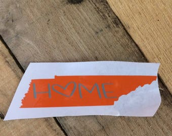 Tennessee decal. Tennessee sticker. TN home sticker. TN home decal.