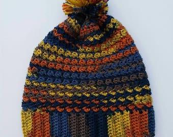 Lightweight Beanie, Pom Pom, Crochet Hat