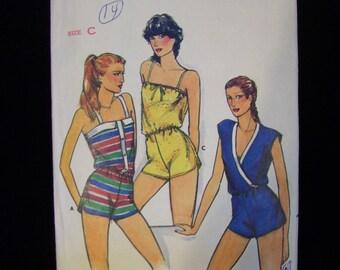 Vintage 1980s Butterick 3173 Misses Jumpsuit Pattern Size C 12-14-16