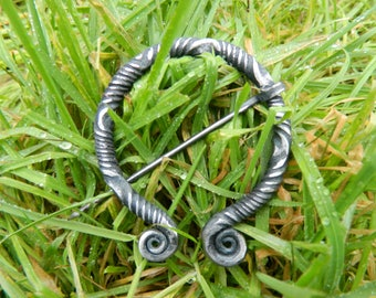 Medium Handforged Celtic Brooch, Archaeology Inspired Ancient Design