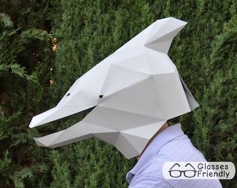 Dolphin Mask Pattern   Animal Mask   Mask Template   Halloween Mask   DIY Mask   Paper Mask