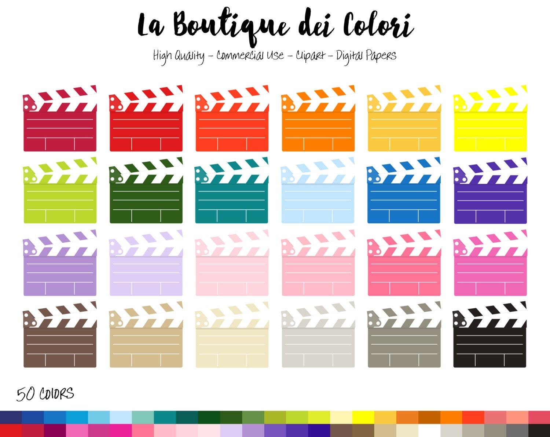 50 Regenbogen Film Schindeln ClipArt-Grafiken digitale