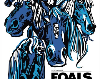 FOALS poster by Shawn Wolfe