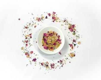 Organic Tropical Serenity Tea Blend. Loose Leaf Tea. Natural Tea. Vegan Tea . Tropical Fruit. Calming Tea. Herbal Tea. Organic Dried Herbs