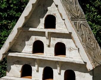 Antique style dovecote, large bird house, victorian dove bird house, dovecote, functional bird house, shabby decor, cottage chic bird house