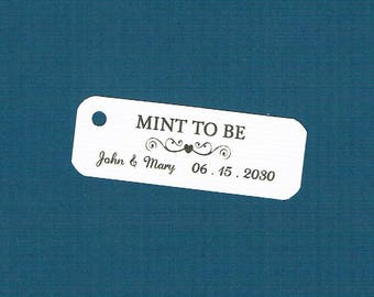 Wedding Tags, Set of 50, Mint To Be Tag, Printed Tags, Wedding Shower Tags, Tags, Wedding Favor, Thank You Tag