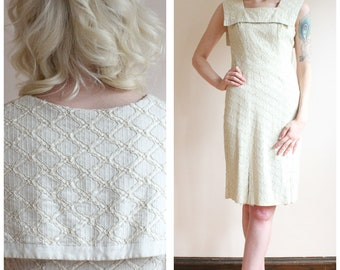 1950s Dress // Biltmore Linen Sheath Dress // vintage 50s dress