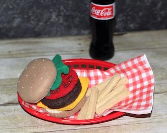 Felt Cheeseburger Set
