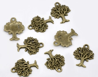 """Antiqued Bronze """"Tree Of Life"""" Charms"""