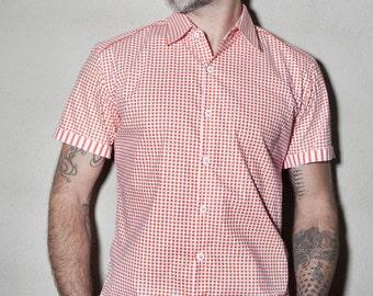 90s Vintage Guatemala Aztec Shirt - Ethnic Men's Hippie Long Sleeve Cotton Shirt - Pink Blue Guatemalan Mexican Baja Shirt XL Large TUMI 0JG4FS