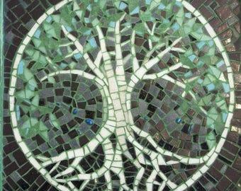 Tree of Life handmade mosaic wall art