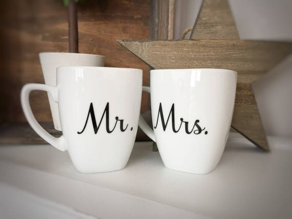 Mr And Mrs Gifts Wedding: Mr & Mrs Mugs Wedding Gifts Bridal Shower Gifts Mugs For