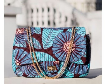 Ankara purse, ankara bag, african print bag, african purse, african print purse, ankara clutchbag, bridesmaid clutch, large clutch GIANNA