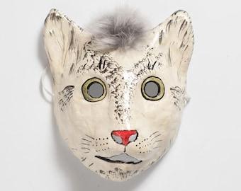 Katze-Papier-Maske
