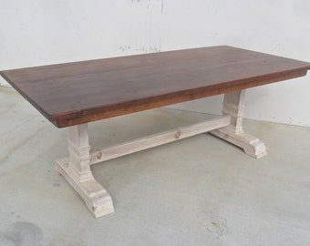 Dining Table, Reclaimed Wood, Trestle Table, Rustic, Salvaged, Shabby Chic