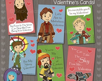 Printable Firefly Valentine's Day Card