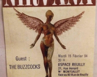 Nirvana Ticket from 1994 unused.  Concert was supposed to be Feb. 15 but was cancelled.  Full Unused Nirvana Concert Ticket
