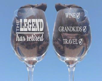 Retirement Gift for Women, Retirement, Retirement Gifts Women, Retirement Wine Glass, Retirement Gift for Man, Retirement Gift for Her