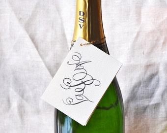 Monogram Wine Tag & Gift Cards