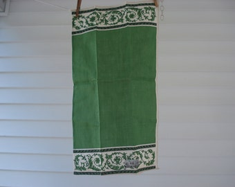 Pretty green tea towel by Parisian Prints - new with tag