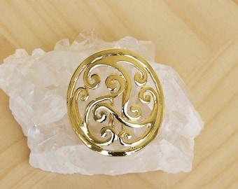 Hair Hook Hair Accessory - Gold Celtic Design