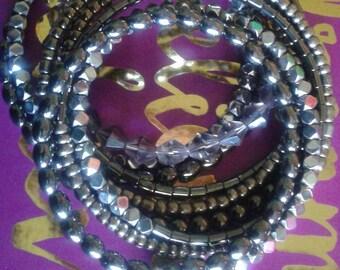 Smokey Eyes - Memory Wrap Bracelet