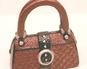 Red Black Silver Barbie Handbag Purse