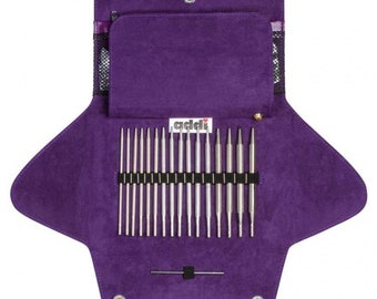Addi-click by woolly hugs case knitting needles + crochet hooks with case 680-2
