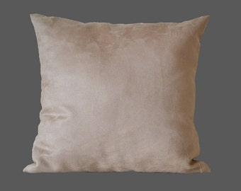 Sand pillow-cover, microsuede, 50x50 cm/ 19,7x19,7 inch, for decorative pillow