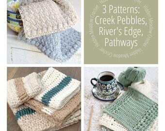 Crochet Dishcloth Patterns - DIY Hand Towel - Crochet Pattern - Crochet Pattern Bundle Set - Kitchen Pattern Set 1