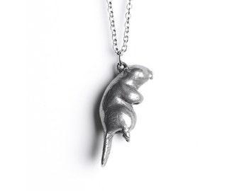 Beaver Necklace, April / May Native American Birth Totem - Taurus