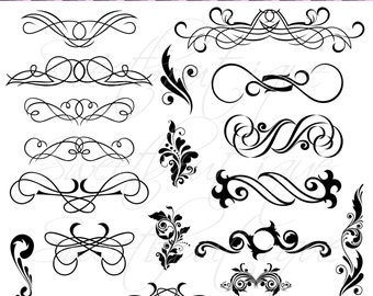 14 calligraphy clip art clipart diy wedding invitation designs black calligraphy clip art clipart diy wedding invitation designs scrapbook embellishment digital frame buy 3 get stopboris Images
