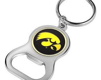 Iowa Hawkeyes Keychain Bottle Opener