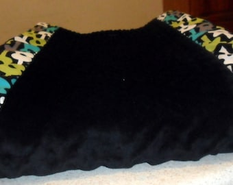 Groovy Guitars and Black Minky Dot Changing Pad Cover CHOICE OF MINKY