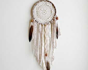 Dreamcatcher, Boho Dream Catcher, Doily Dreamcatcher,Bohemian Wall Hanging, Earth Tones,Native American,Tribal Style, Boho Chic,Boho Nursery