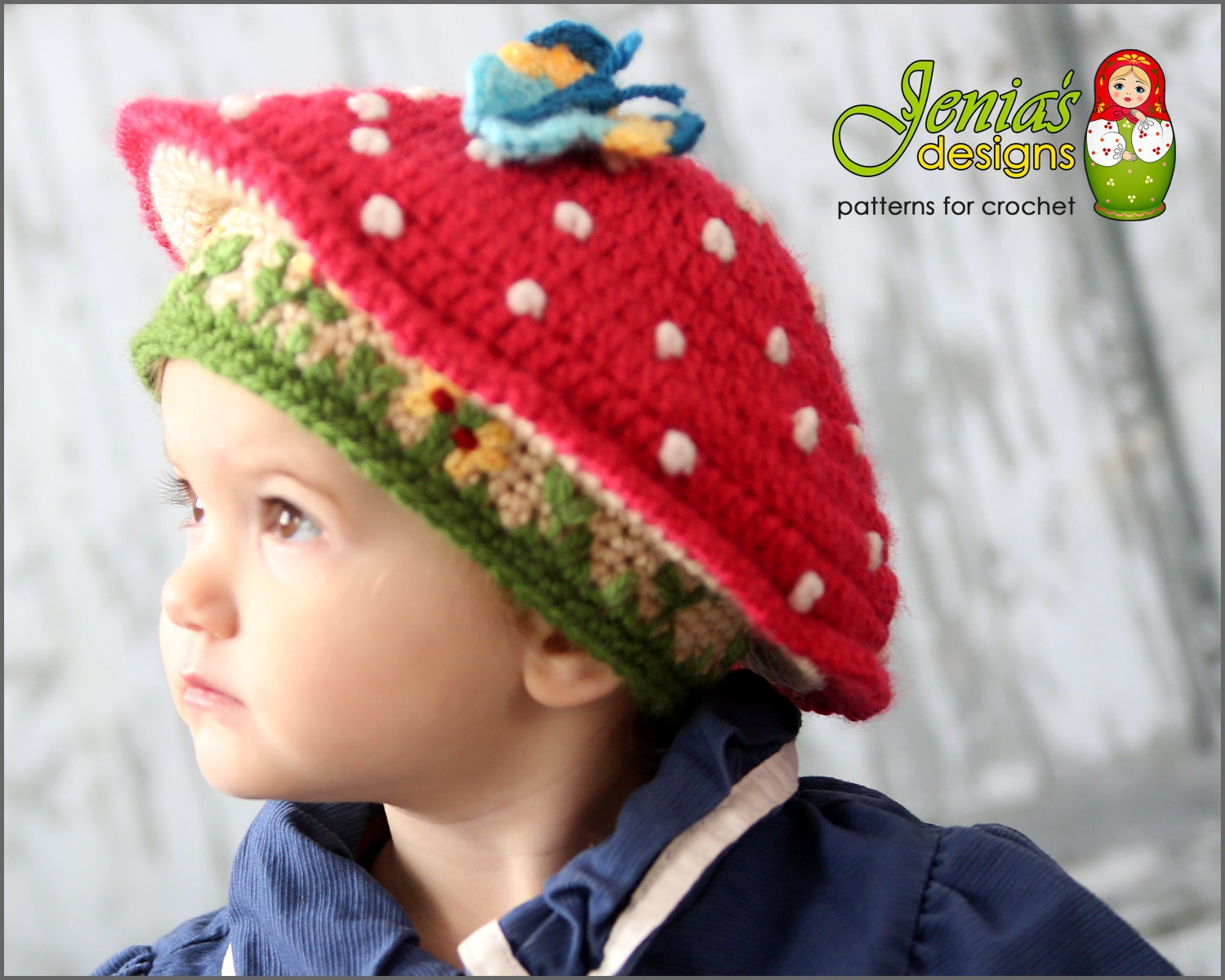 CROCHET PATTERN - Toadstool Hat Pattern for Baby, Toddler, Child ...