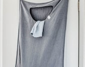 Graphite hanging linen laundry bag