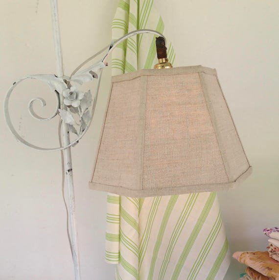 Linen uno lamp shade bridge lampshade natural color aloadofball Images