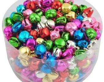 Jingle Bells-Iron-6mm-Mixed Colors-100 PCS