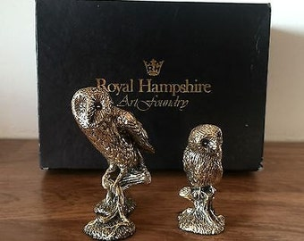 Royal Hampshire Art Foundry - Antiqued Silver - in Original Box