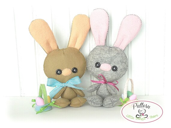 Baby Bunny PDF Pattern-Easter Bunny sewing pattern-Cute Rabbit