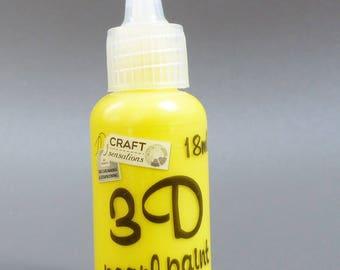 Yellow 3D effect paint tube bead 18 ml