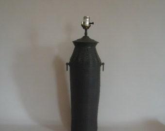 Chapman Lamp Brass Basket Weave