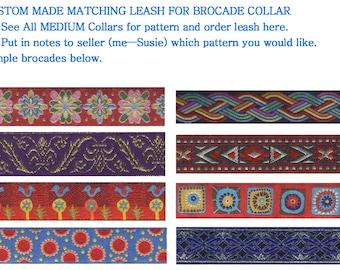 Matching Dog Leash for Medium Brocade Collar